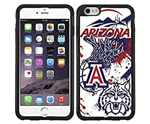 University of Arizona Wildcats Blue, Red and White College Basketball Sports RUBBER Snap on Phone Case (iphone 6 plusd 5.5)