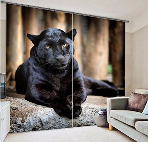 Blackout Fabric Animal Bear 3D Window Curtains Drapes For Living room Bed room Hotel Decorative Home Wall Tapestry