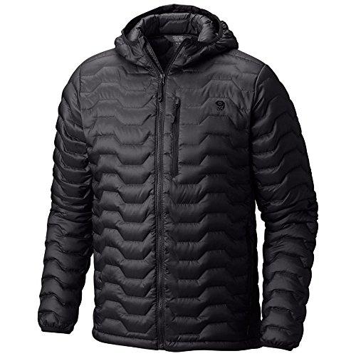 Mountain Hardwear Nitrous Hooded Down Jacket - Men's Black Medium Down Fill Jacket