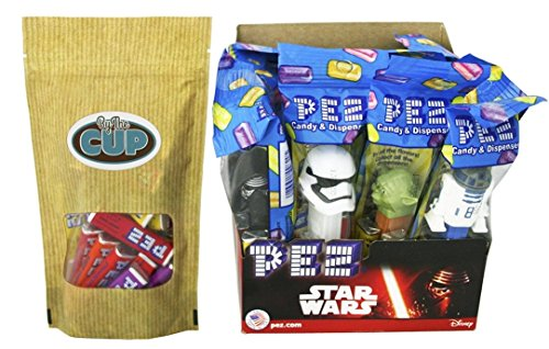 STAR WARS Pez Dispensers (Pack of 12) with 1/2 pound of PEZ Candy Refills (Chewbacca Pez Dispenser compare prices)