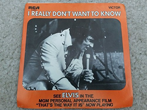 ELVIS There Goes My Everything bw Dont Want To Know 45 rpm Vinyl Record Jukebox
