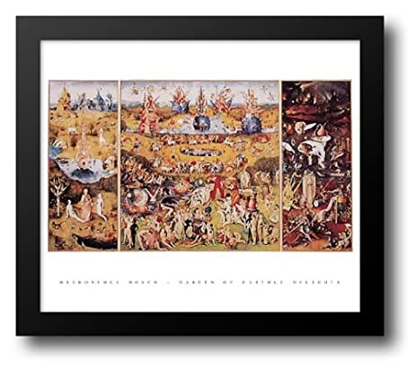 Garden Of Earthly Delights, C.1504 32x26 Framed Art Print By Bosch,  Hieronymus