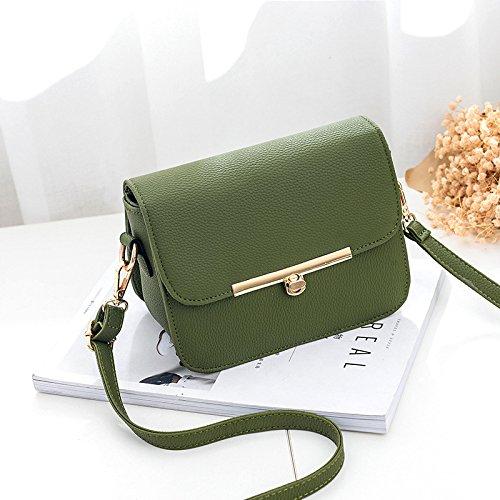Oblicuos green OME Bolsa Grass Bolso Violeta Cuadrados Bolsa Tipo Con Solo amp;QIUMEI PPwrq8T