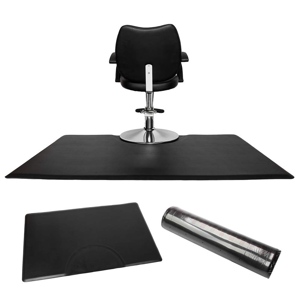Mefeir 3 ft. x 5ft. Rectsngle 5/8'' Thick Anti-Fatigue Salon Standing Floor Mat for Hiar Stylist Barber, Comfort Spa Beauty Mats under Styling Chair,Non-Slip, Waterproof