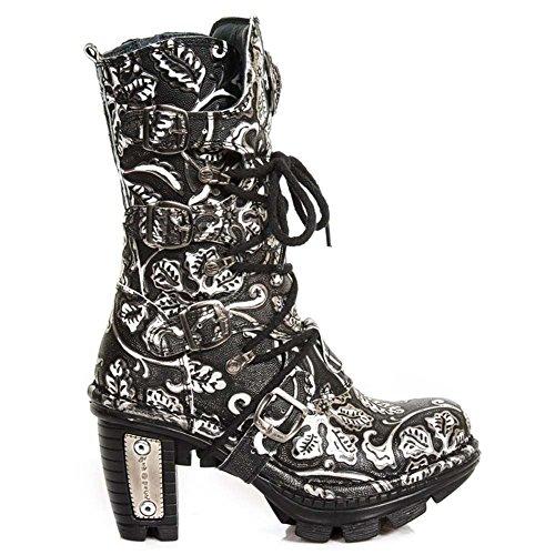 New Rock Neotrail WOmen's Leather Black Boots M.NEOTR005-S34 Grey 4eloqdG8