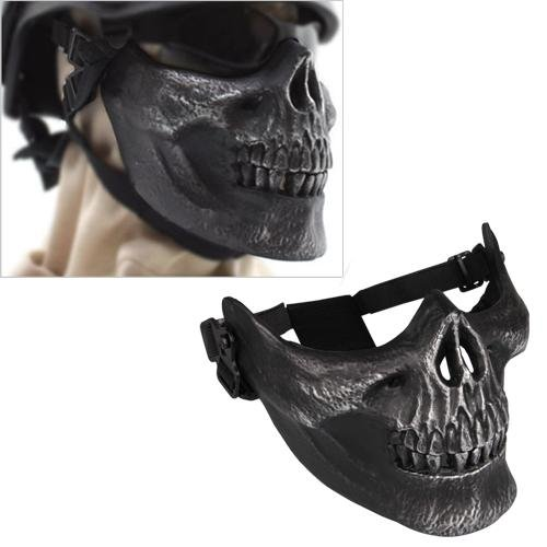 Ecloud ShopUS Skull Airsoft Paintball BB Gun Half Face Protect Mask