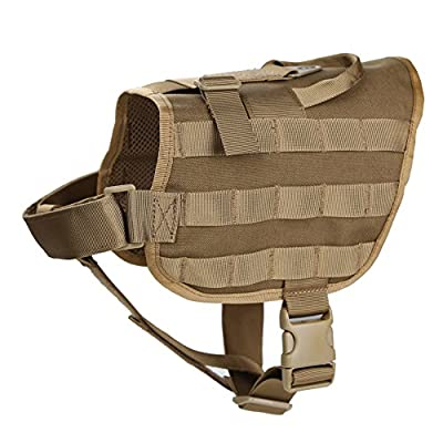 Pellor Nylon Tactical Police Dog Training Molle Vest Harness