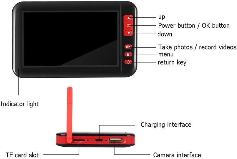 4,3 Zoll Endoskopkamera 1080P Full HD LCD Digitale Hand Industrie Endoskop 5M Halbsteife Snake Tube Wasserdicht Inspektionskamera Videoaufnahme Boreskop mit 2000mAh Batterie 1.6-198 Brennweite