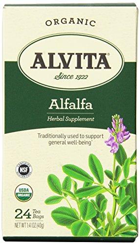 Alvita Organic Alfalfa Herbal Tea Bags, 24 Count
