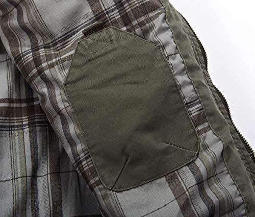 Multi Multi Parka Grün Esercito In In Tasca HaiDean Con Metallo Giacca Casual Cappotto Giacca Uomo Uomo Blouson Autunno Cerniera Uomo Moderna Inverno Armee Stile Cotone wBXqP