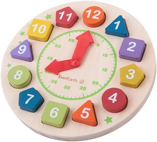 Multicoloured EverEarth Wooden Clock EE33729