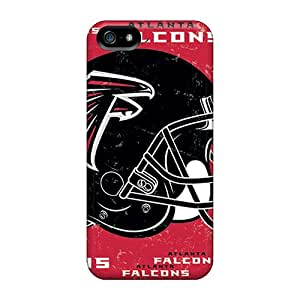 Shock Absorption Hard Phone Cover For Iphone 5/5s With Allow Personal Design HD Atlanta Falcons Pictures AlissaDubois