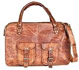 81stgeneration Genuine Leather Large Messenger Shoulder Briefcase Vintage Laptop Work Travel Bag