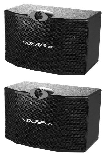 VocoPro SV-500 10-Inch 3-Way Vocal Speaker (Pair) by VocoPro