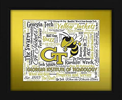 Georgia Institute of Technology (Georgia Tech) 16x20 Art Piece - Beautifully matted and framed behind (Georgia Justice)