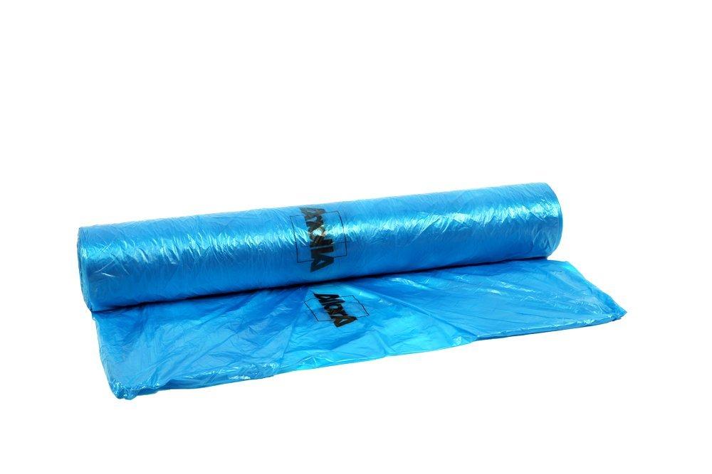 AllorA Abdeckfolie Blau HDPE Transparent Blau farbhaftend 4 m x 300 m, 8 My