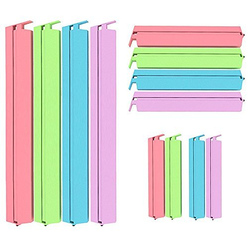 Food Plastic Sealing Clips, Sealing Bag Clips Fresh-Keeping Clamp Sealer Set of 12 Pieces for Kitchen and Snack Bag Multi-Colors (S/M/L)
