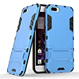 OPPO R10 Plus Case,Oppo R10 Plus Cover,Find box [Slim] Dual Layer Hybrid Rugged Hard PC and TPU Soft Silicone Full Body Protective Case Shell kickstand Case Cover For Oppo R10 Plus (Blue)