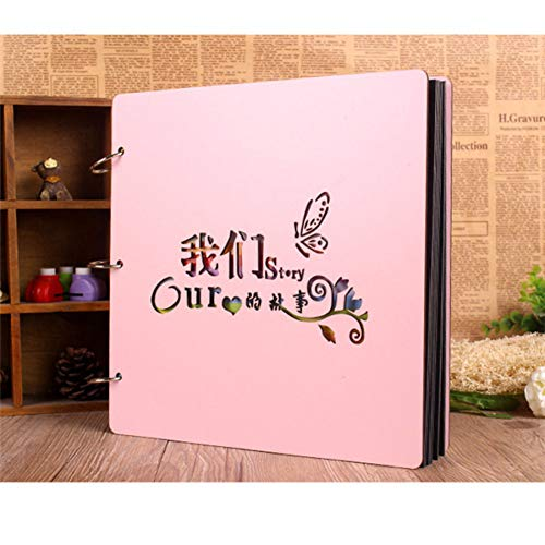 - VVW&LIU Photo Albums 12inch Color Wood Cover Albums Handmade Loose-Leaf Pasted Photo Album Personalized Baby Lovers DIY Photo Album