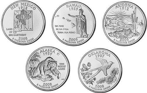 2008-P State Quarter Set: 5 coins