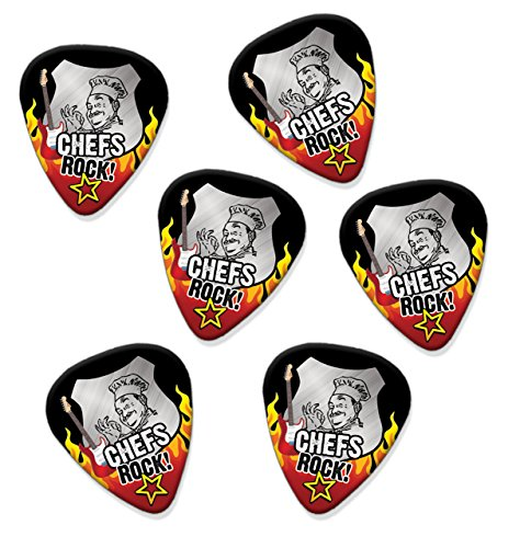 chef-cook-chefs-rock-6-x-guitar-picks-plectrums-r1