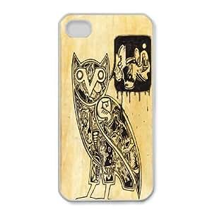 iphone4 4s Phone Case White Drake Ovo Owl WQ5RT7450559