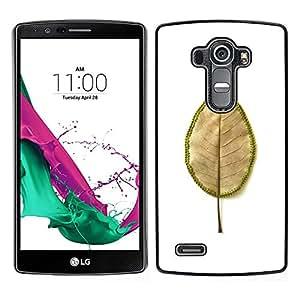 LECELL--Funda protectora / Cubierta / Piel For LG G4 -- hoja marchito --