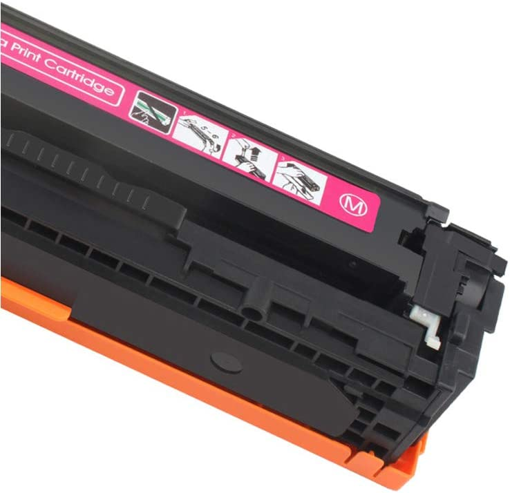 Compatible Toner Cartridge Replacement for Hp Ce320a for Hp Color Laserjet Cm1312 Cm1312nfi MFP Cp1215 Cp1215n Cp1515 Cm1415fn Cm1415fnw Printer Black Cyan Yellow Magenta-Combination