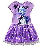 KUFV Vampirirna Girls T-Shirt Dress Children Cosplay Pleat Dress Clothes