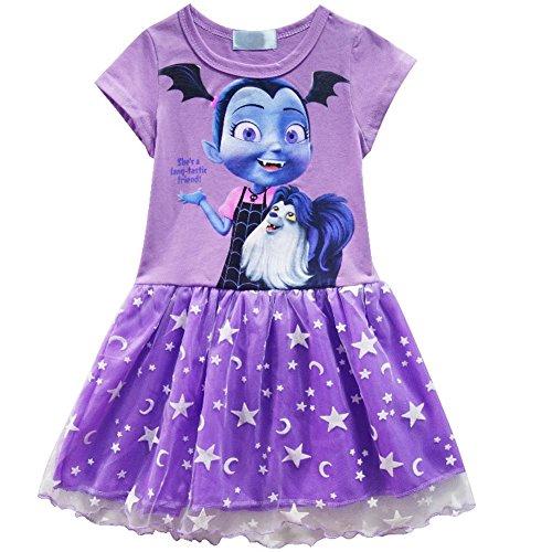 - Cercur Vampirirna Girls T-Shirt Dress Children Cosplay Pleat Dress Clothes