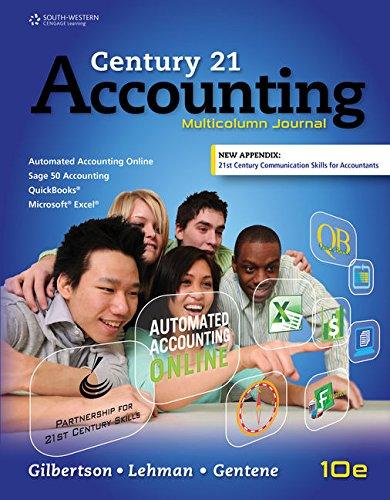 Century 21 Accounting: Multicolumn Journal, Copyright Update (MindTap Course List)