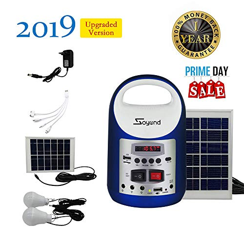 (soyond Portable Solar Generator with Solar Panel Solar Powered Generator Inverter Small Basic Portable Electric Generator Kit)