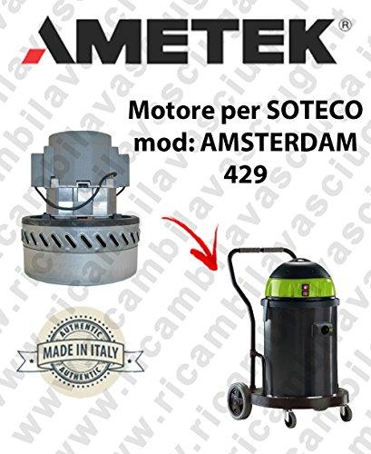 Amsterdam 429 Motor aspiración ametek para aspiradora Soteco: Amazon.es: Industria, empresas y ciencia