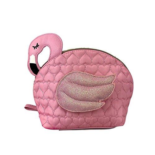 Betsey Johnson Flamingo Kitsch Cosmetic Pink Travel Bag