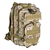 Military Tactical Backpack Army Backpack 3 Day Assault Pack Molle Bug Out Bag for Outdoor Hiking Camping Trekking Hunting Multiple Color (CP camouflage)