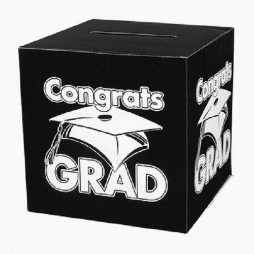 Black Congrats Grad Money Gift Card Box Graduation Party