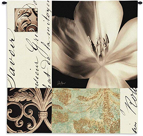 Fine Art Tapestries Tulip Montage Mid Hand Finished European Style Jacquard Woven Wall Tapestry USA Size - Wall Montage Tulip Tapestry