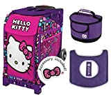 Zuca Hello Kitty Bow Party Sport Bag & Purple Frame w Lunchbox and Seat Cushion