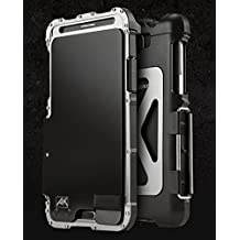 Newest 360 Armor King Iron Man Cool Luxury Metal Aluminum Case Cover for Samsung Galaxy Note 3 N9000 (Silver+Black)