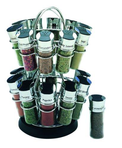 (Olde Thompson 20-Jar Flower Spice Rack)