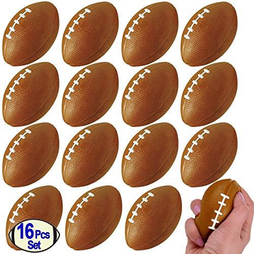 Mini Foam Footballs 16 Pcs Pack   3.25