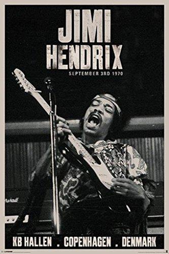 Pyramid America Jimi Hendrix Copenhagen, Denmark Poster Print
