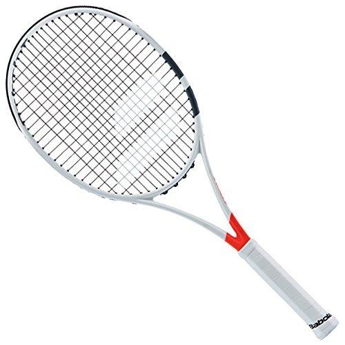 Blanc//Rouge Unisexe Adulte Babolat Mini Racket Pure Strike Raquette de Tennis Taille Unique