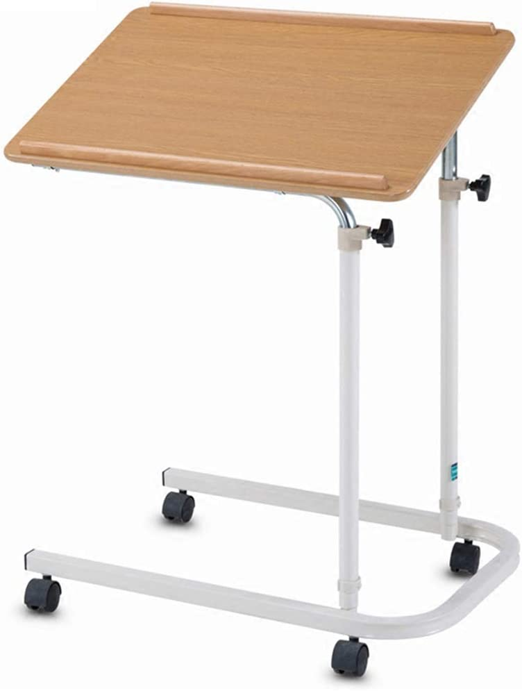 ZXYY OverBed Table Home Overbed Table with Tilt Table Height Adjustable Rolling Laptop Desk Medical Bedside Hospital Food Tray