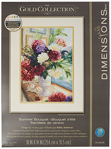 summer bouquet counted cross stitch