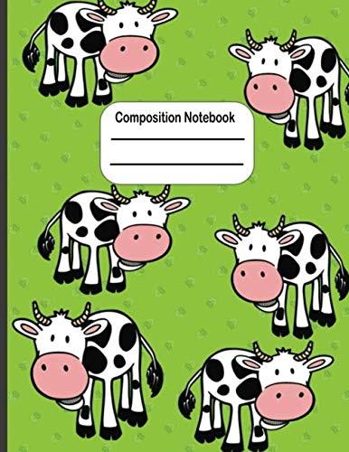 Halloween Classroom Worksheets (Composition Notebook: Large Cow Notebook to Write in ( Primery Writing Paper ) Dashed-Line Writing)