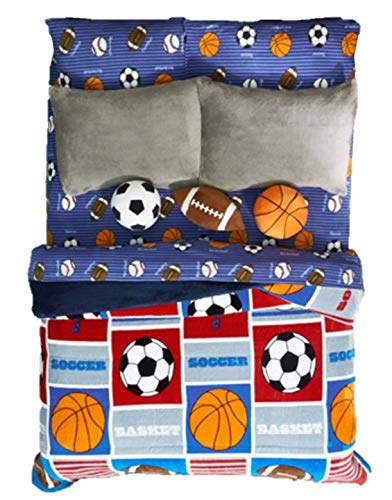 スポーツDeportivo Kids BoysシックコレクションBlanket with Sherpa Very Softy厚暖かい、Fullサイズ   B075Q55MM5