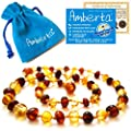 Amber Teething Necklace for Babies Amberta - Immune System Boost, Teething Pain & Drooling Relief, Natural Calming Effect - 100% Pure Amber, Twist-in Screw Clasp, Handmade by Amberta® that we recomend individually.