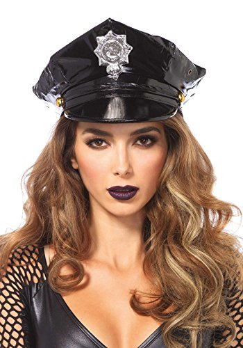 Leg Avenue Women's Police Hat Costume Accessory, Black,
