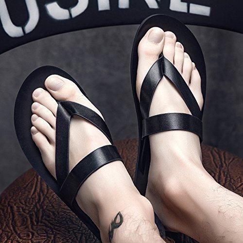 Xing Lin Sandalias De Hombre Sandalias Hombres Cool Zapatillas, Zapatillas, Zapatillas, Zapatillas Y Sandalias De Cuero black